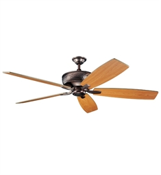 "Kichler 300106OBB Monarch 70"" Indoor Ceiling Fan with 5 Blades with Cool-Touch Remote and Downrod"