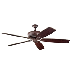 "Kichler 300106TZ Monarch 70"" Indoor Ceiling Fan with 5 Blades with Cool-Touch Remote and Downrod"