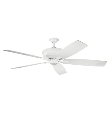 "Kichler 300106WH Monarch 70"" Indoor Ceiling Fan with 5 Blades with Cool-Touch Remote and Downrod"
