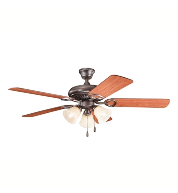 "Kichler 339400OBB Sutter Place Premier 50"" Indoor Ceiling Fan with 5 Blades with Pull Chain and Downrod"