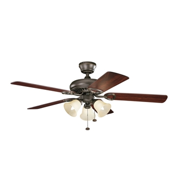 "Kichler 339400OZ Sutter Place Premier 50"" Indoor Ceiling Fan with 5 Blades with Pull Chain and Downrod"