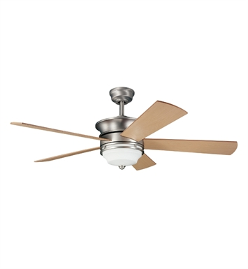 "Kichler 300114NI Hendrik 52"" Indoor Ceiling Fan with 5 Blades with Cool-Touch Remote and Downrod"