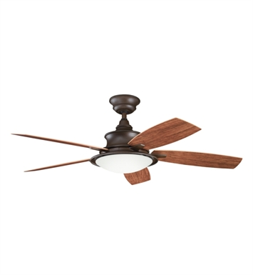 "Kichler 310104TZP Cameron 52"" Indoor Ceiling Fan with 5 Blades with Cool-Touch Remote and Downrod"