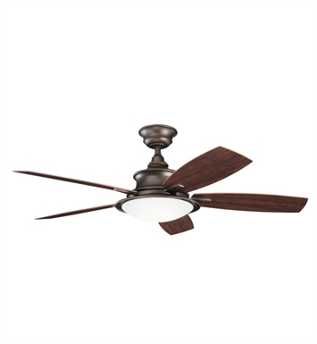 "Kichler 310104WCP Cameron 52"" Indoor Ceiling Fan with 5 Blades with Cool-Touch Remote and Downrod"