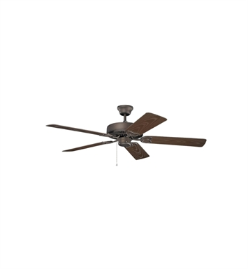 "Kichler 401SNB Basics Revisited 52"" Indoor Ceiling Fan with 5 Blades and Downrod"