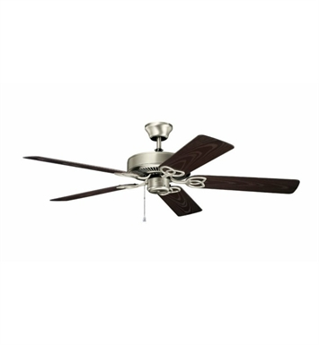 "Kichler 401NI Basics Revisited 52"" Indoor Ceiling Fan with 5 Blades and Downrod"