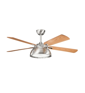 "Kichler 300142BSS Vance 54"" Indoor Ceiling Fan with 5 Blades with Cool-Touch Remote and Downrod"