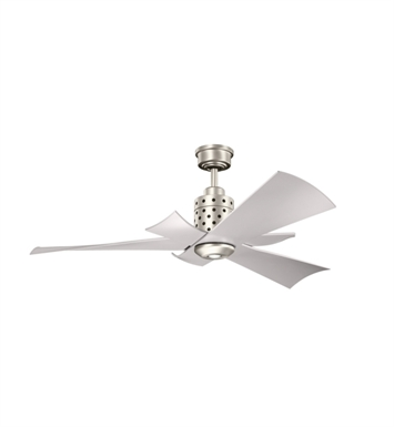 Kichler 300163NI Indoor Ceiling Fan with 3 Blades and Downrod