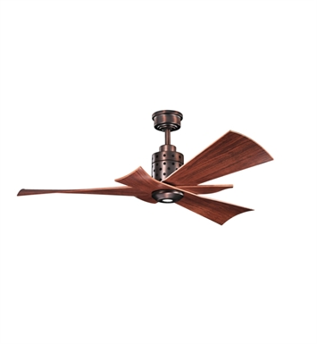Kichler 300163OBB Indoor Ceiling Fan with 3 Blades with Cool-Touch Remote and Downrod
