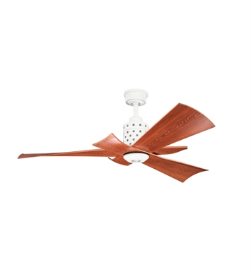 Kichler 300163WH Indoor Ceiling Fan with 3 Blades with Cool-Touch Remote and Downrod