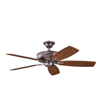 "Kichler 339013OBB Monarch 52"" Indoor Ceiling Fan with 5 Blades with Cool-Touch Remote and Downrod"