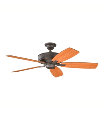"Kichler 339013OZ Monarch 52"" Indoor Ceiling Fan with 5 Blades with Cool-Touch Remote and Downrod"