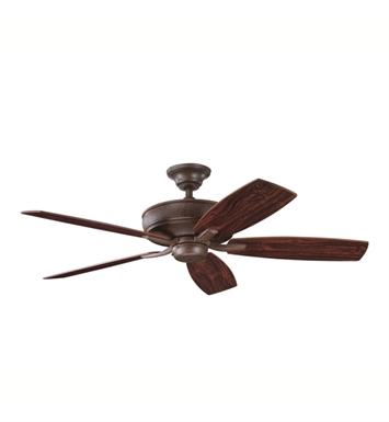 "Kichler 339013TZ Monarch 52"" Indoor Ceiling Fan with 5 Blades with Cool-Touch Remote and Downrod"