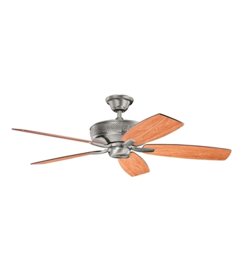 "Kichler 339013BAP Monarch 52"" Indoor Ceiling Fan with 5 Blades with Cool-Touch Remote and Downrod"