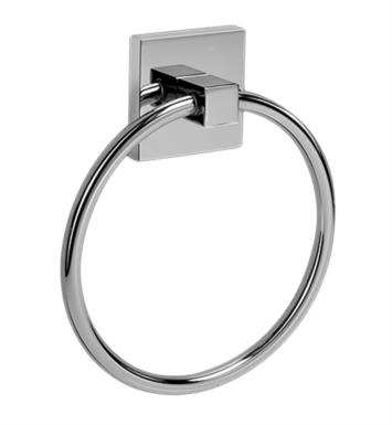 "Graff G-9106-PC/BK 5 3/4"" Wall Mount Towel Ring With Finish: Architectural Black w/ Chrome Accents"