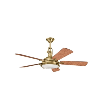 Kichler 300018BAB Indoor Ceiling Fan with 5 Blades with Cool-Touch Remote and Downrod