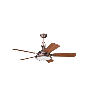 Kichler 300018OBB Indoor Ceiling Fan with 5 Blades with Cool-Touch Remote and Downrod