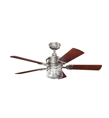 Kichler 300120AP Ceiling Fan with 5 Blades with Cool-Touch Remote and Downrod