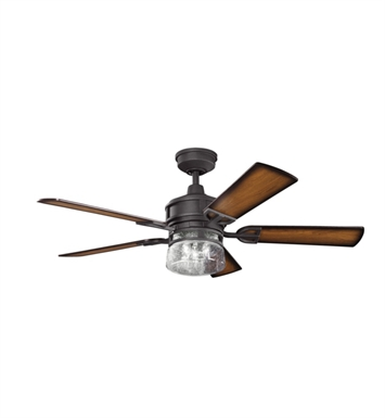 Kichler 300120DBK Ceiling Fan with 5 Blades with Cool-Touch Remote and Downrod