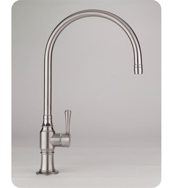Jaclo 1071-WC-BSS Steam Valve Single Lever Kitchen Faucet With Finish: Brushed Stainless Steel And Handles: White Contemporary Ceramic Lever Handles
