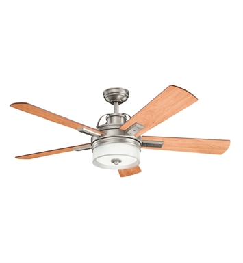 Kichler 300181AP Indoor Ceiling Fan with 5 Blades with Cool-Touch Remote and Downrod
