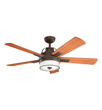 Kichler 300181OZ Indoor Ceiling Fan with 5 Blades with Cool-Touch Remote and Downrod