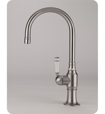 Jaclo 1076-MT-BSS Steam Valve Single Lever Kitchen Faucet With Finish: Brushed Stainless Steel And Handles: Metal Traditional Lever Handles