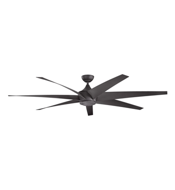 Kichler 310115DBK Outdoor Ceiling Fan with 6 Blades with Cool-Touch Remote and Downrod