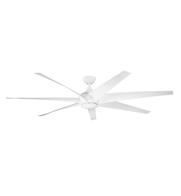 Kichler 310115WH Outdoor Ceiling Fan with 6 Blades with Cool-Touch Remote and Downrod