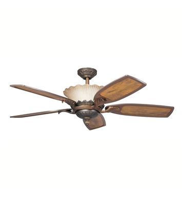 "Kichler 300000OLZ Golden Iridescence 52"" Indoor Ceiling Fan with 5 Blades with Cool-Touch Remote and Downrod"
