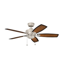 "Kichler 320510ANS Crystal Bay 52"" Outdoor Ceiling Fan and Downrod"