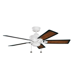 "Kichler 320510SNW Crystal Bay 52"" Outdoor Ceiling Fan and Downrod"