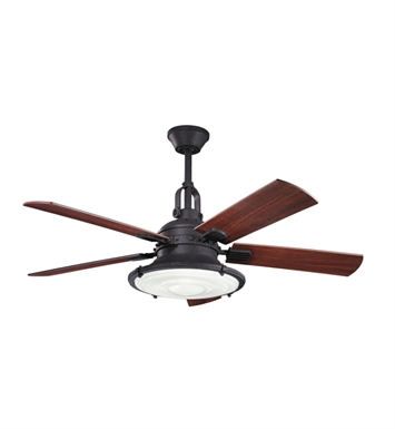 Kichler 300020DBK Indoor Ceiling Fan with 5 Blades with Cool-Touch Remote and Downrod