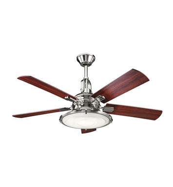 Kichler 300020PN Indoor Ceiling Fan with 5 Blades with Cool-Touch Remote and Downrod