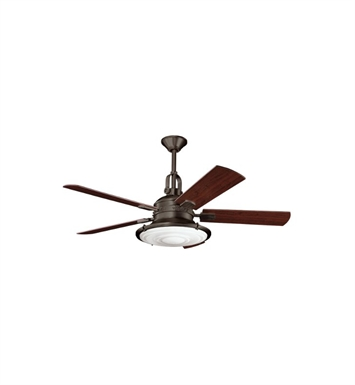 Kichler 300020OZ Indoor Ceiling Fan with 5 Blades with Cool-Touch Remote and Downrod