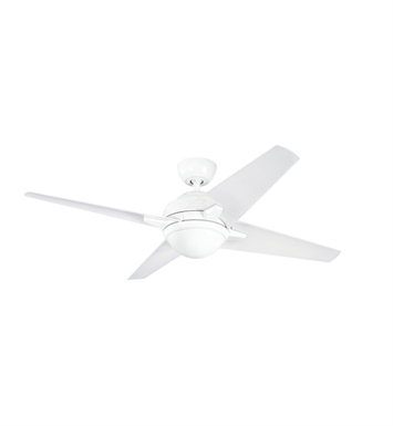 Kichler 300133WH Indoor Ceiling Fan with 4 Blades with Cool-Touch Remote and Downrod