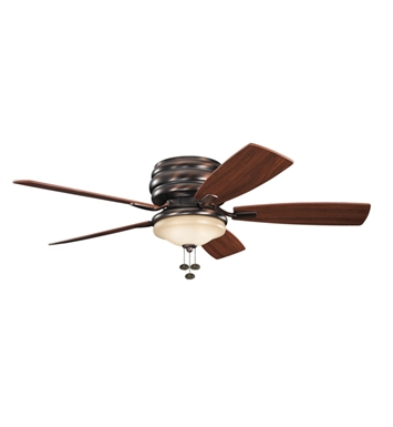 Kichler 300119OBB Outdoor Ceiling Fan with 5 Blades and Light Kit