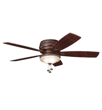 Kichler 300119TZ Outdoor Ceiling Fan with 5 Blades and Light Kit