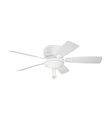 Kichler 300119WH Outdoor Ceiling Fan with 5 Blades and Light Kit
