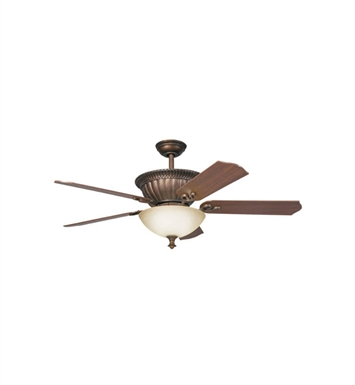 "Kichler 300012TZG Larissa 52"" Indoor Ceiling Fan with 5 Blades, Cool-Touch Remote and Downrod"