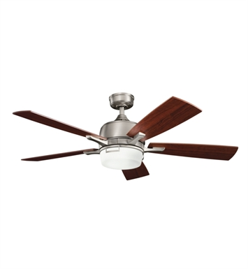 "Kichler 300427AP Leeds 52"" Indoor Ceiling Fan with 5 Blades, Cool-Touch Remote and Downrod"