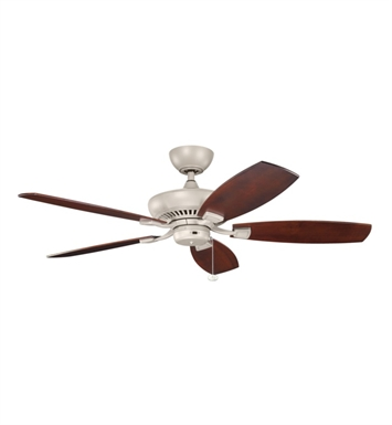 "Kichler 320500ANS Climates 52"" Outdoor Ceiling Fan Less Blades and Downrod"