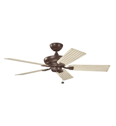 "Kichler 320500CMO Climates 52"" Outdoor Ceiling Fan Less Blades and Downrod"