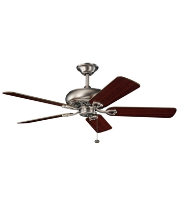"Kichler 300118AP Bentzen 52"" Indoor Ceiling Fan with 5 Blades and Downrod"