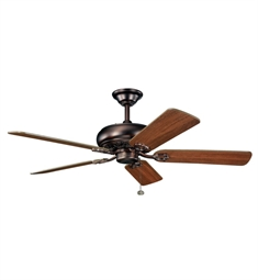 "Kichler 300118OBB Bentzen 52"" Indoor Ceiling Fan with 5 Blades and Downrod"