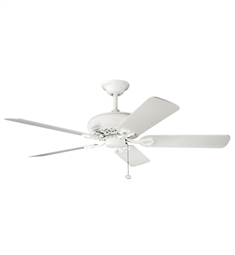 "Kichler 300118SNW Bentzen 52"" Indoor Ceiling Fan with 5 Blades and Downrod"