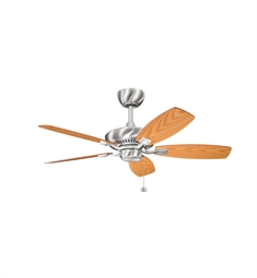 "Kichler 300107BSS Canfield 44"" Indoor Ceiling Fan with 5 Blades and Downrod"