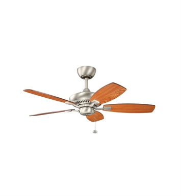 "Kichler 300107NI Canfield 44"" Indoor Ceiling Fan with 5 Blades and Downrod"