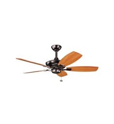 "Kichler 300107OBB Canfield 44"" Indoor Ceiling Fan with 5 Blades and Downrod"