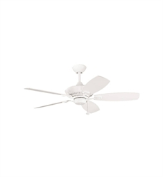 "Kichler 300107WH Canfield 44"" Indoor Ceiling Fan with 5 Blades and Downrod"